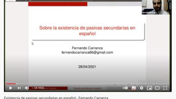 Especialista disertó sobre la existencia de pasivas secundarias en español