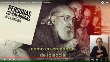 Un audiovisual conmemora los 100 años de Paulo Freire