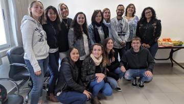 Estudiantes de intercambio tuvieron su bienvenida