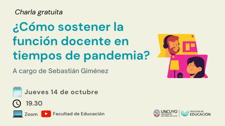 ¿Cómo sostener la función docente en tiempos de pandemia?