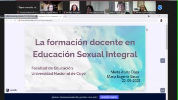 Más de 200 personas participaron de una charla de formación docente en Educación Sexual Integral