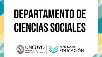 Información del Departamento de Ciencias Sociales