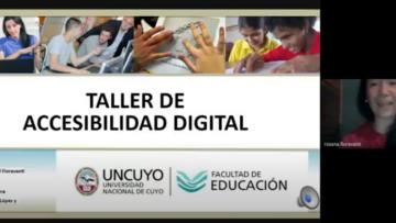 Docentes y estudiantes se capacitan en creación de materiales digitales accesibles